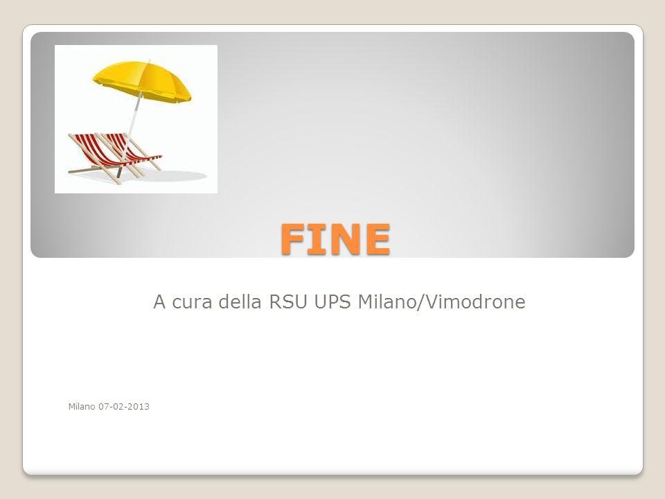 A cura della RSU UPS Milano/Vimodrone Milano 07-02-2013