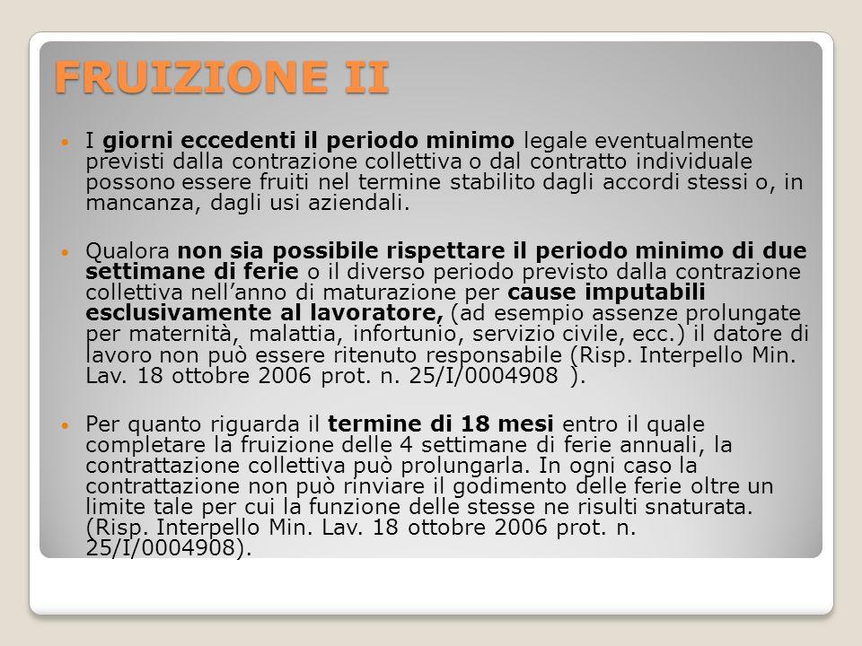 FRUIZIONE II