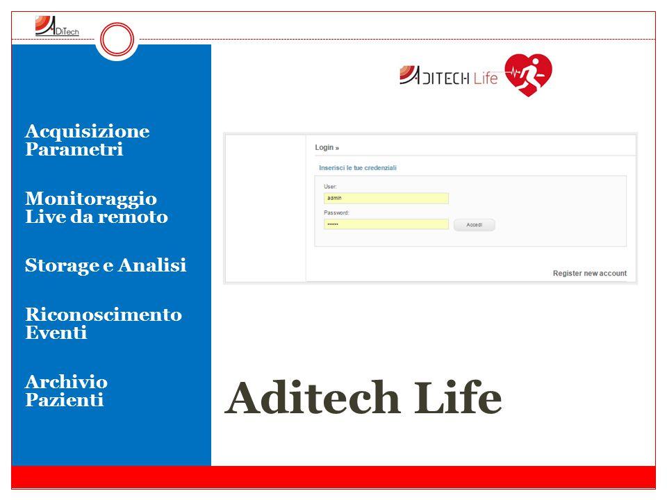 Aditech Life Acquisizione Parametri Monitoraggio Live da remoto