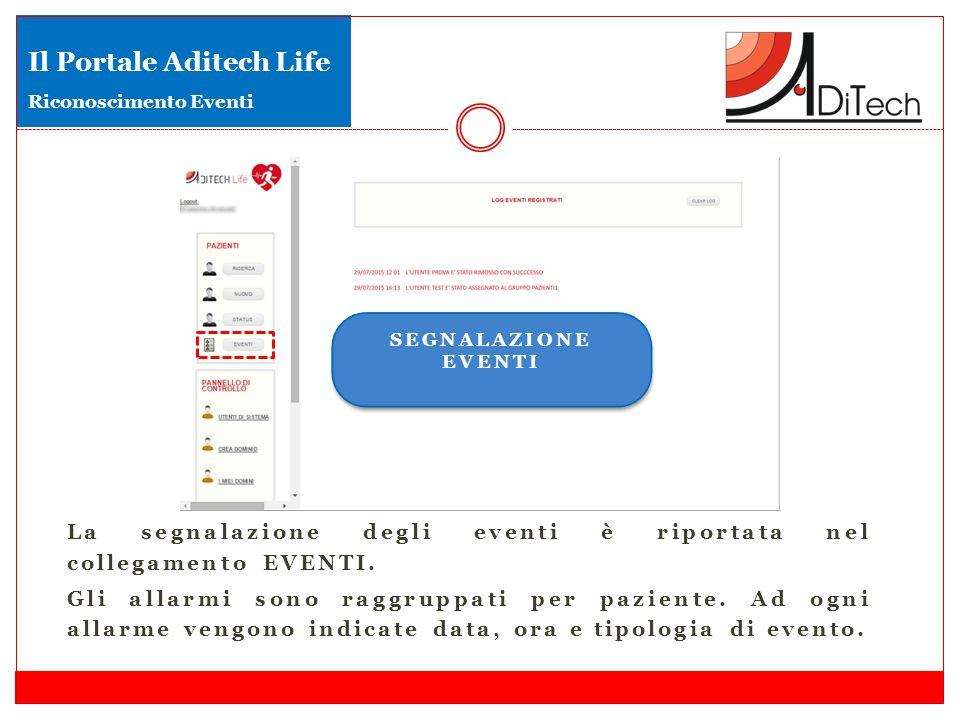 Il Portale Aditech Life Riconoscimento Eventi