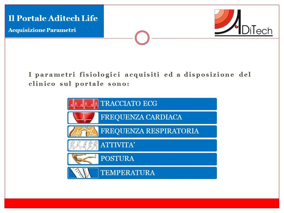 Il Portale Aditech Life Acquisizione Parametri