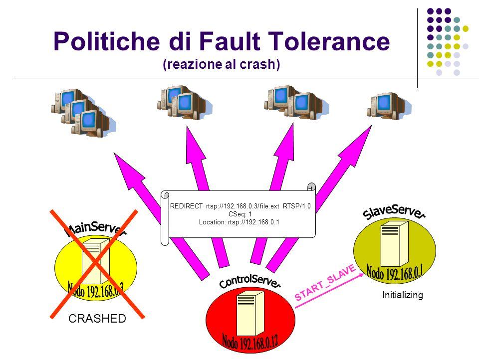 Politiche di Fault Tolerance (reazione al crash)