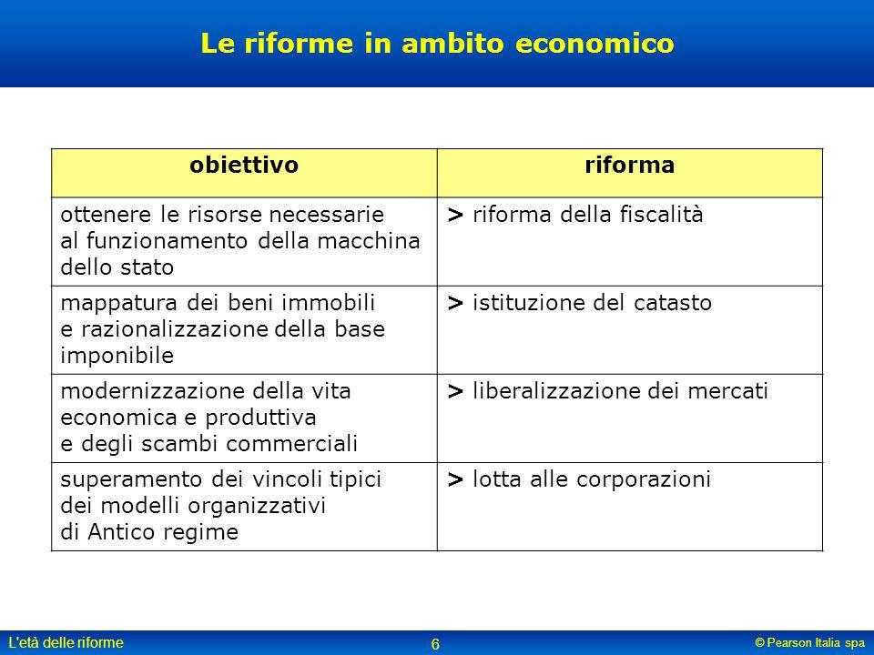 Le riforme in ambito economico