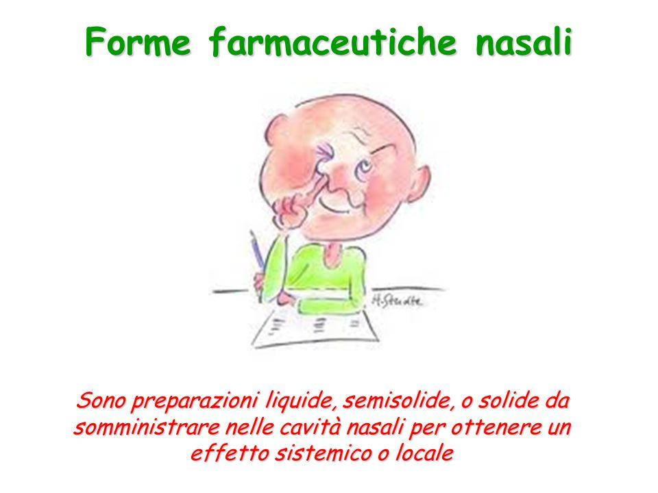 Forme farmaceutiche nasali