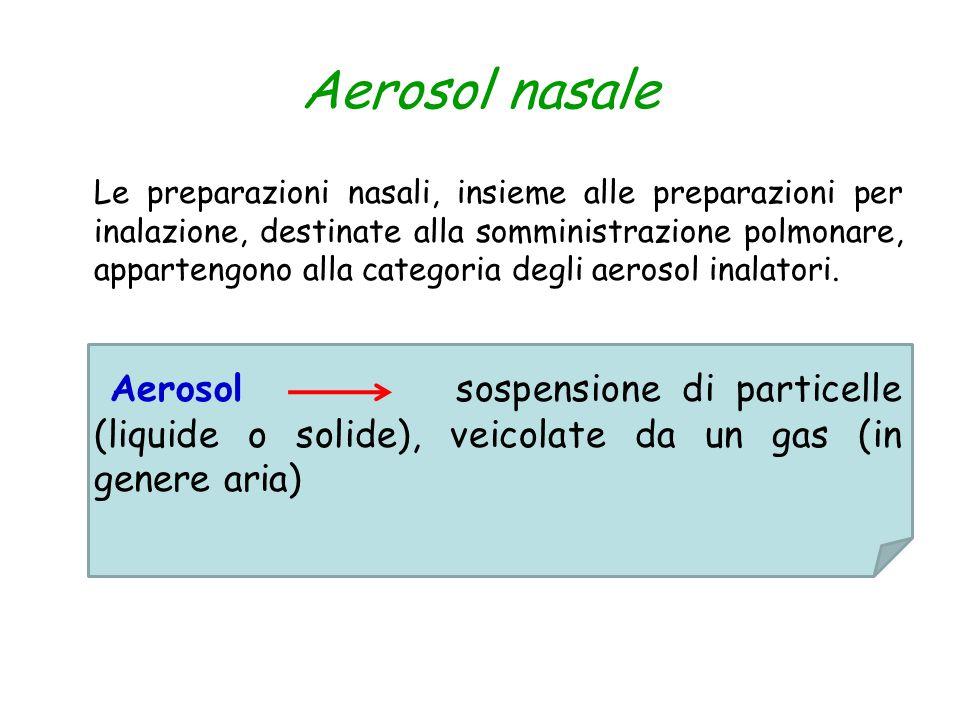 Aerosol nasale