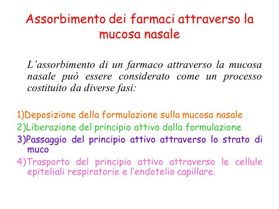 Assorbimento dei farmaci attraverso la mucosa nasale