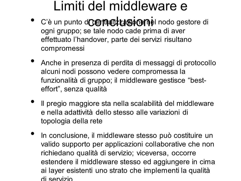 Limiti del middleware e conclusioni