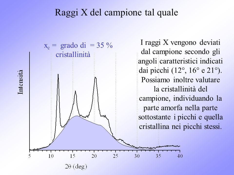 Raggi X del campione tal quale
