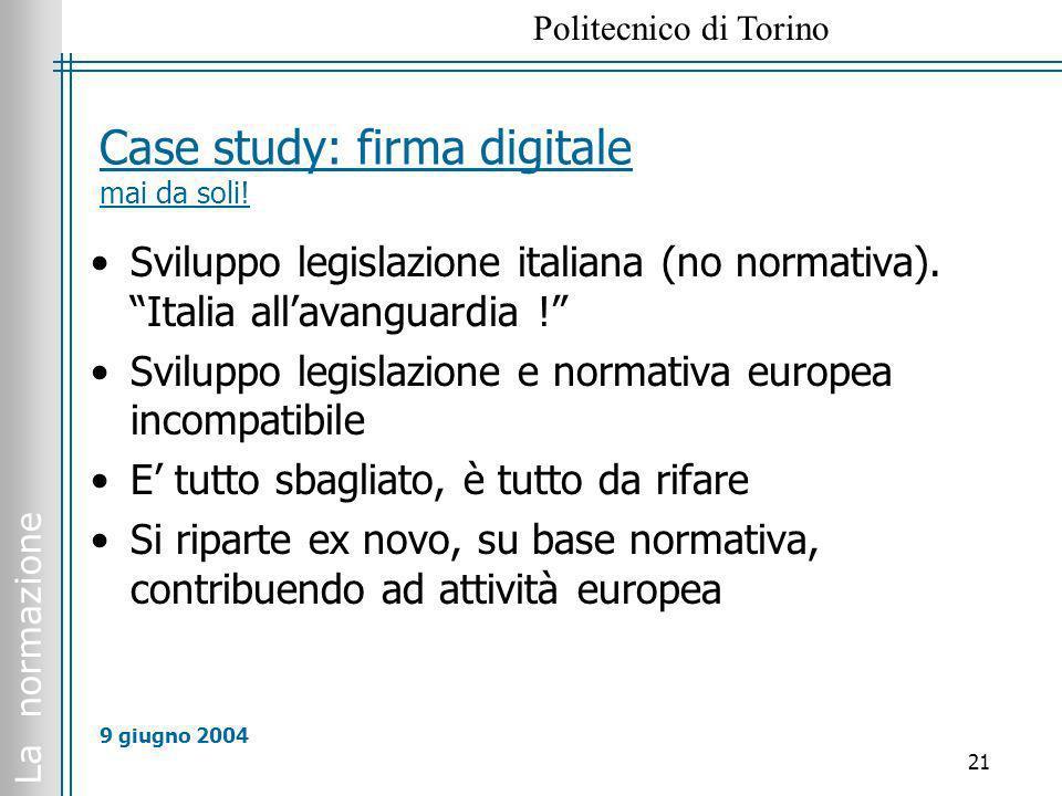Case study: firma digitale mai da soli!