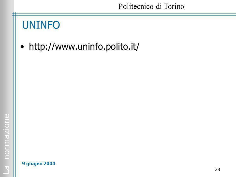 UNINFO http://www.uninfo.polito.it/ 9 giugno 2004 All 7 ente federato