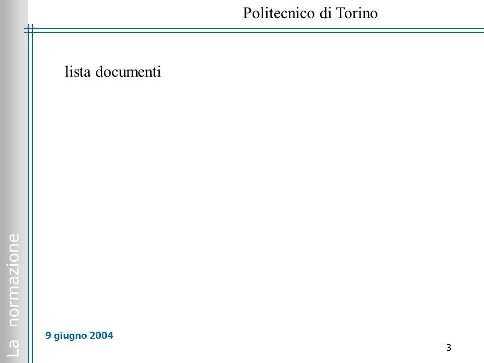 lista documenti 9 giugno 2004