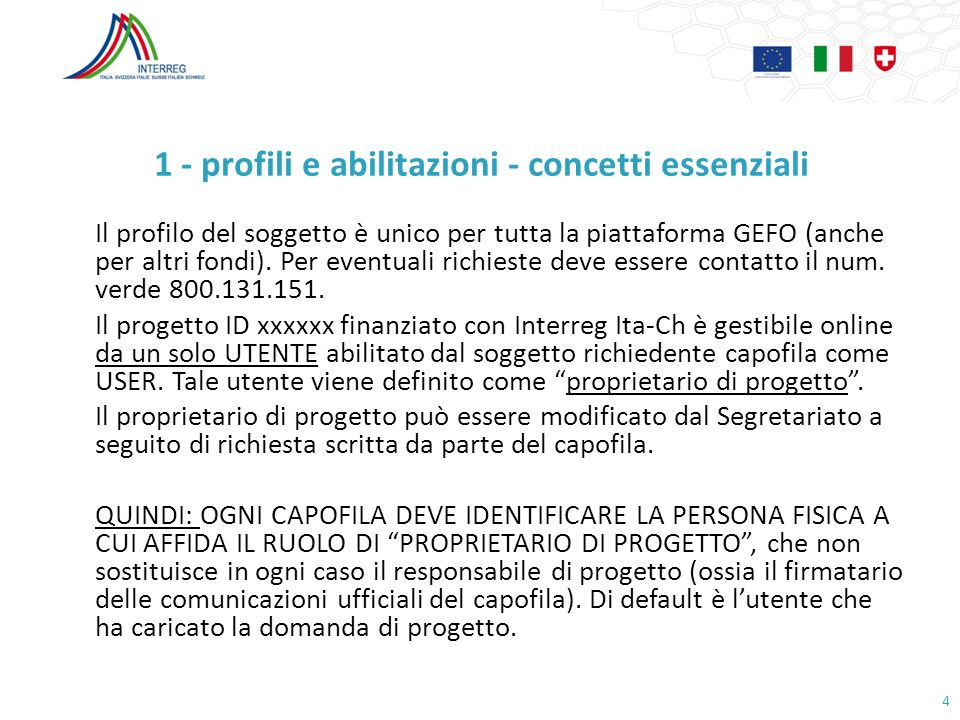 1 - profili e abilitazioni - concetti essenziali