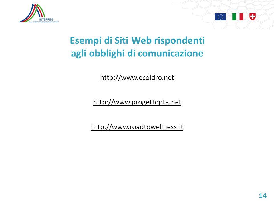 Esempi di Siti Web rispondenti agli obblighi di comunicazione