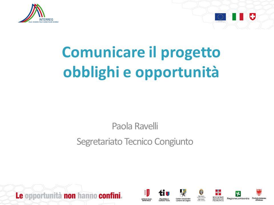 Comunicare il progetto obblighi e opportunità