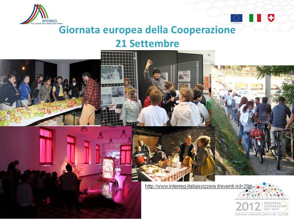 Giornata europea della Cooperazione 21 Settembre
