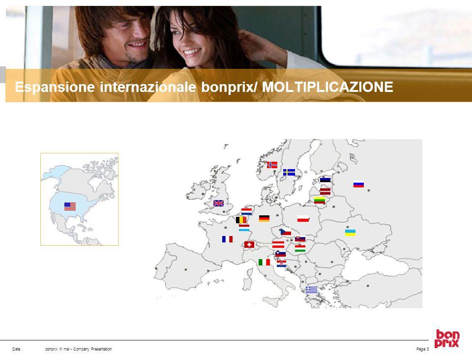 Espansione internazionale bonprix/ MOLTIPLICAZIONE
