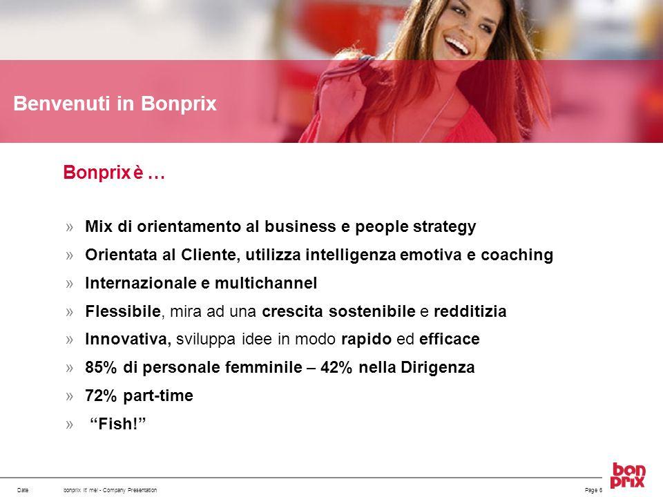 Benvenuti in Bonprix Bonprix è …