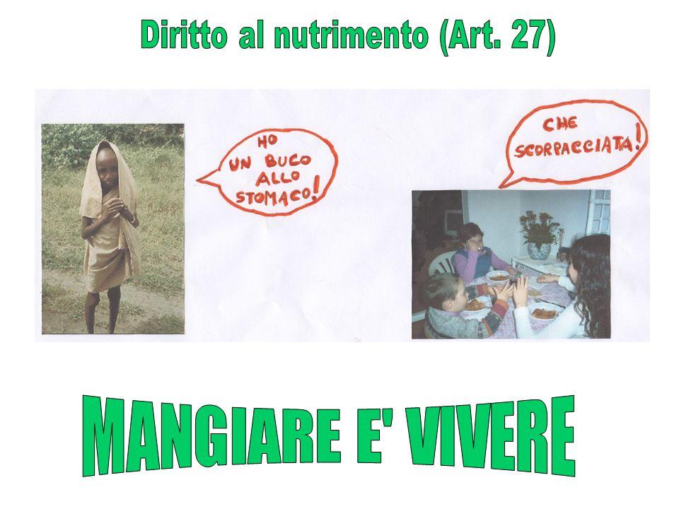Diritto al nutrimento (Art. 27)