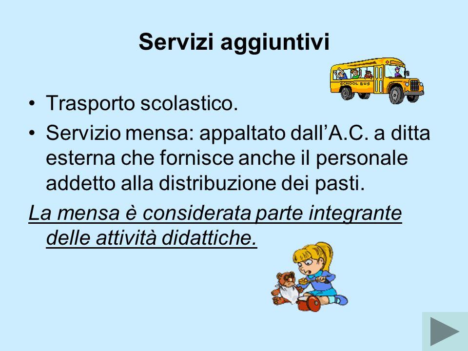 Servizi aggiuntivi Trasporto scolastico.