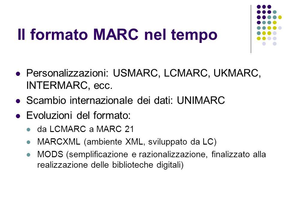 Il formato MARC nel tempo