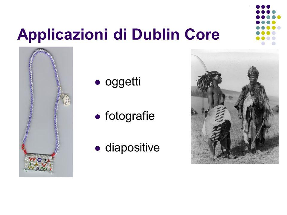 Applicazioni di Dublin Core