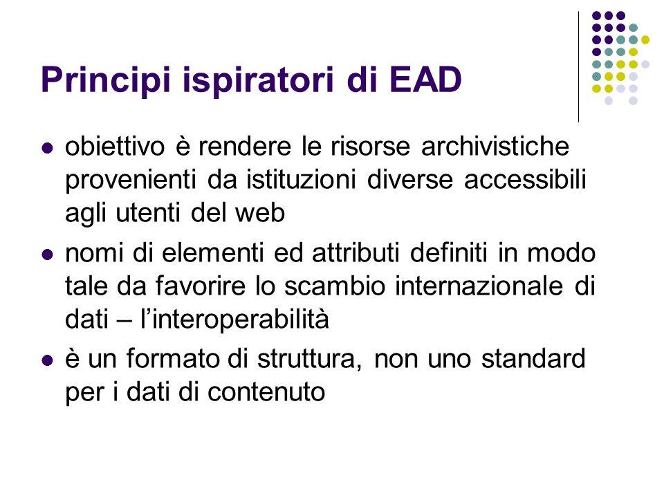 Principi ispiratori di EAD