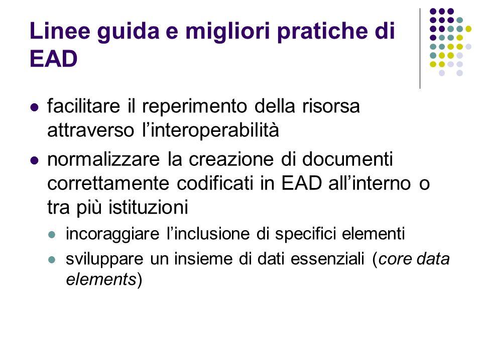 Linee guida e migliori pratiche di EAD