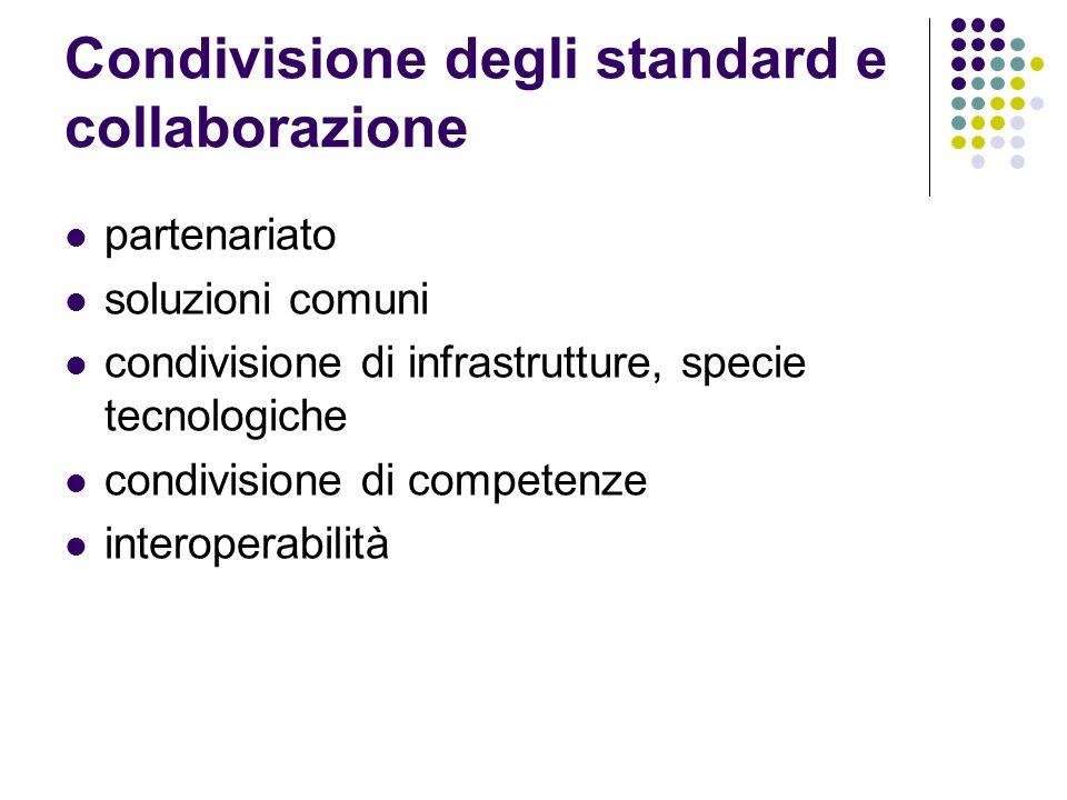 Condivisione degli standard e collaborazione