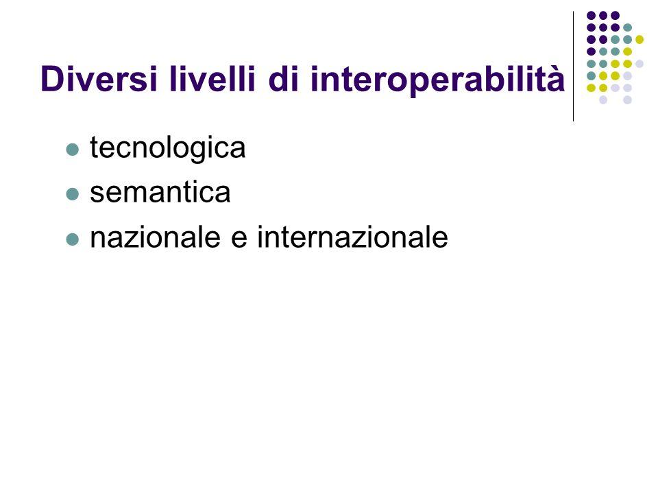 Diversi livelli di interoperabilità