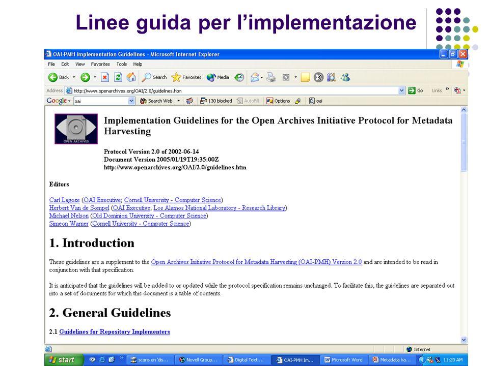 Linee guida per l'implementazione