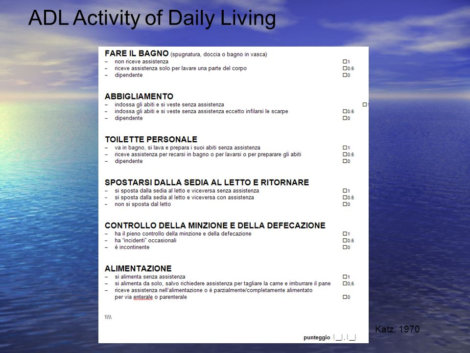 ADL Activity of Daily Living