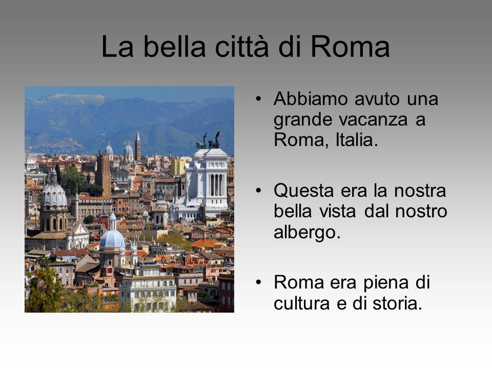 La bella città di Roma Abbiamo avuto una grande vacanza a Roma, Italia. Questa era la nostra bella vista dal nostro albergo.