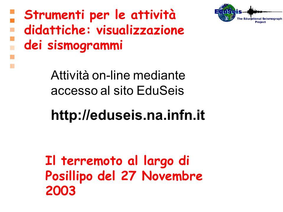 Strumenti per le attività didattiche: visualizzazione dei sismogrammi
