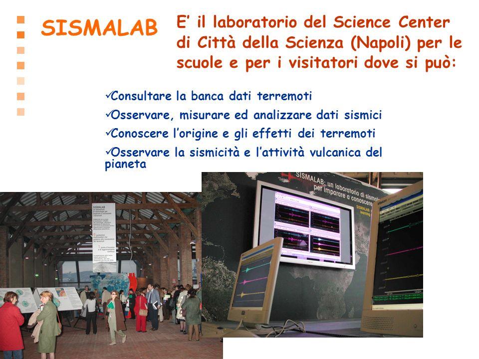 SISMALAB E' il laboratorio del Science Center di Città della Scienza (Napoli) per le scuole e per i visitatori dove si può: