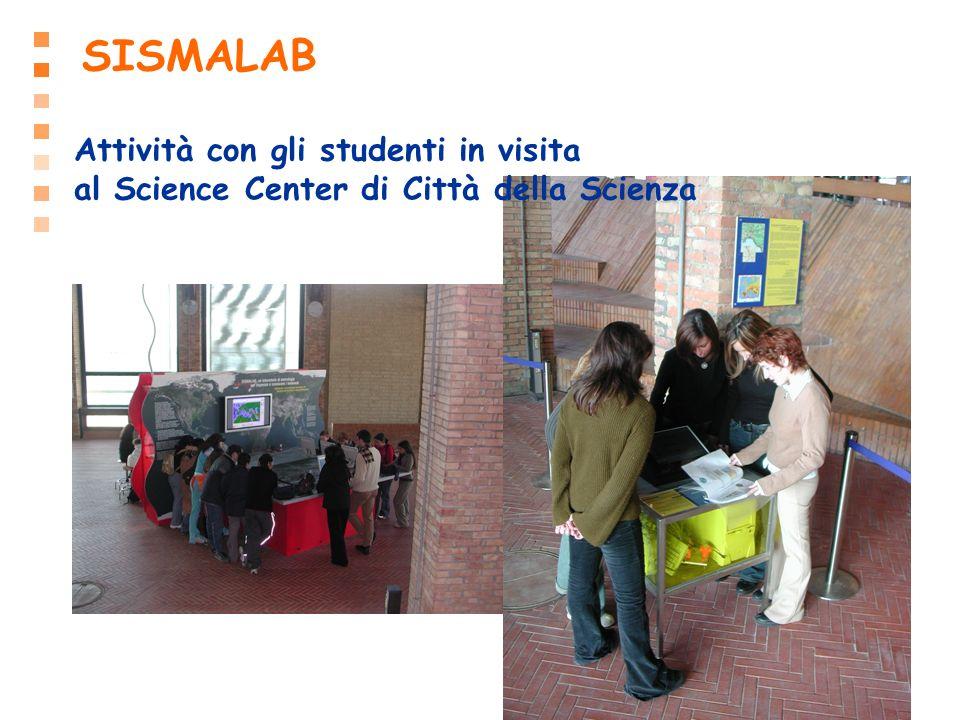 SISMALAB Attività con gli studenti in visita