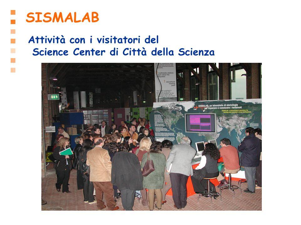 SISMALAB Attività con i visitatori del