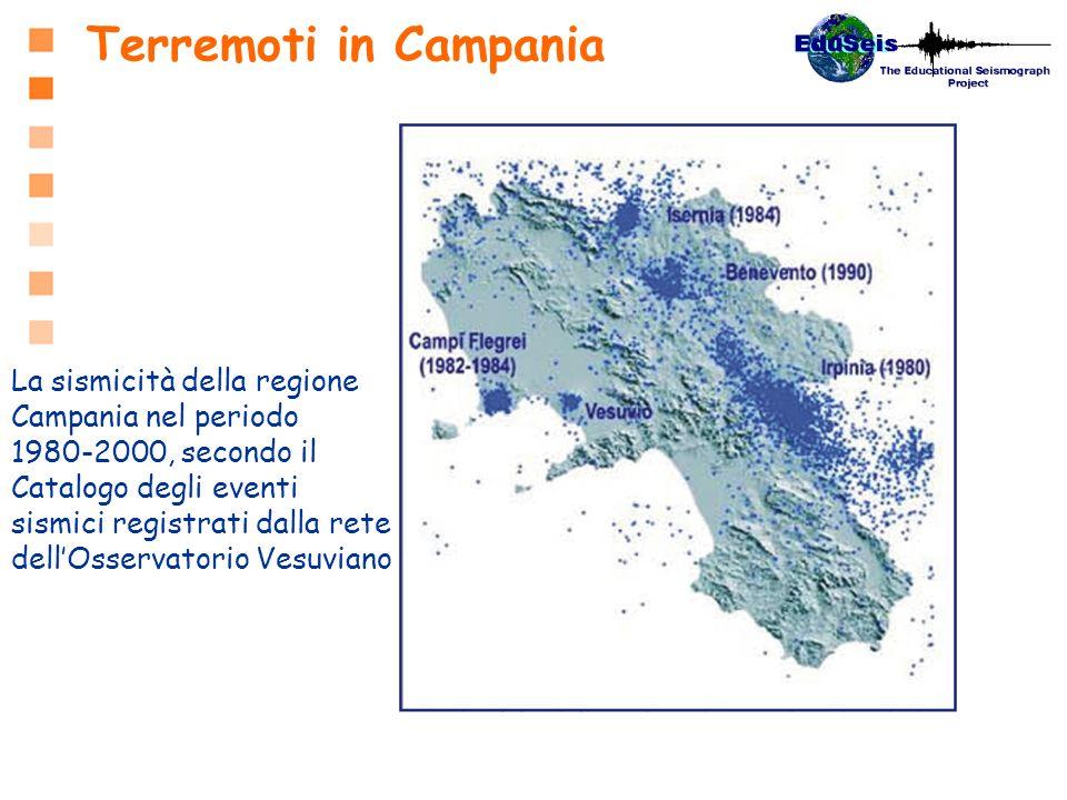 Terremoti in Campania La sismicità della regione Campania nel periodo