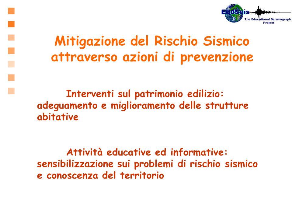 Mitigazione del Rischio Sismico attraverso azioni di prevenzione