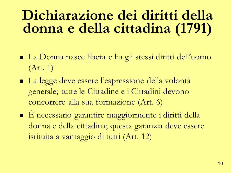Dichiarazione dei diritti della donna e della cittadina (1791)
