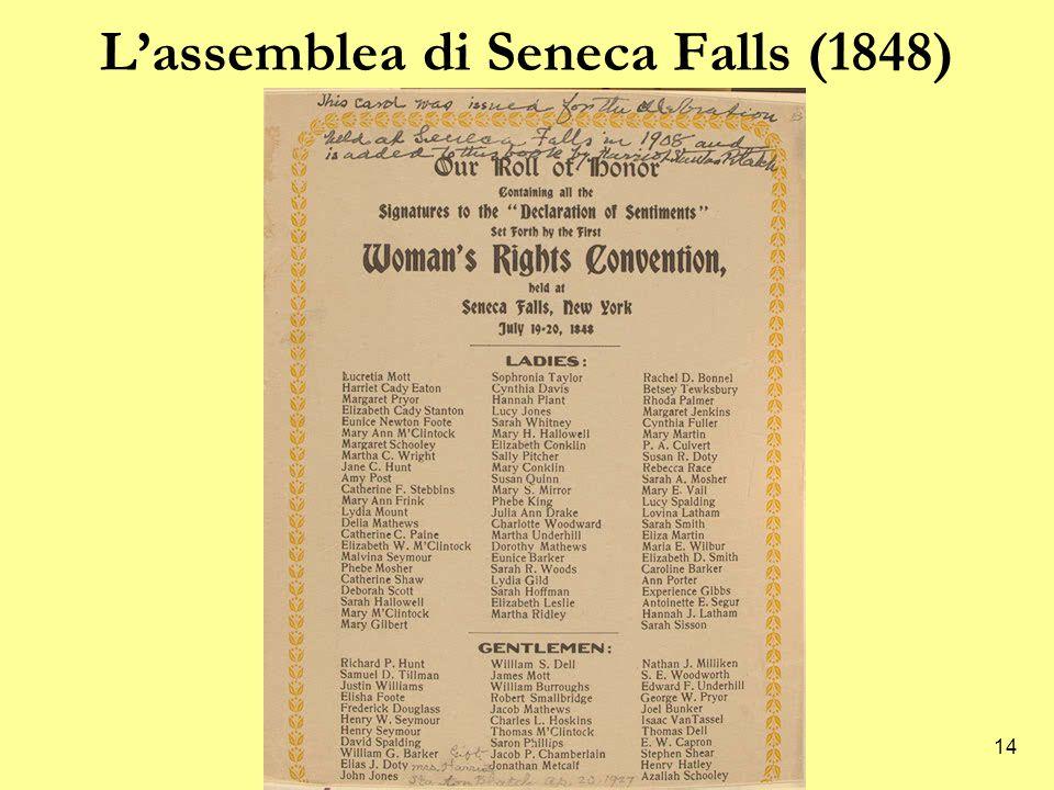 L'assemblea di Seneca Falls (1848)