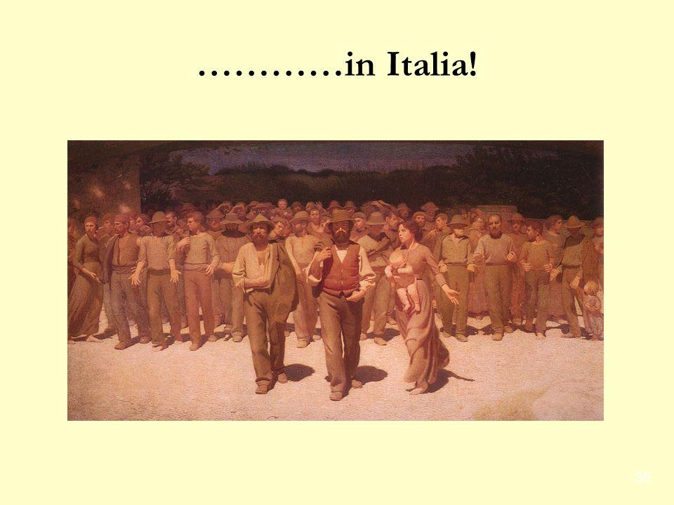 …………in Italia!