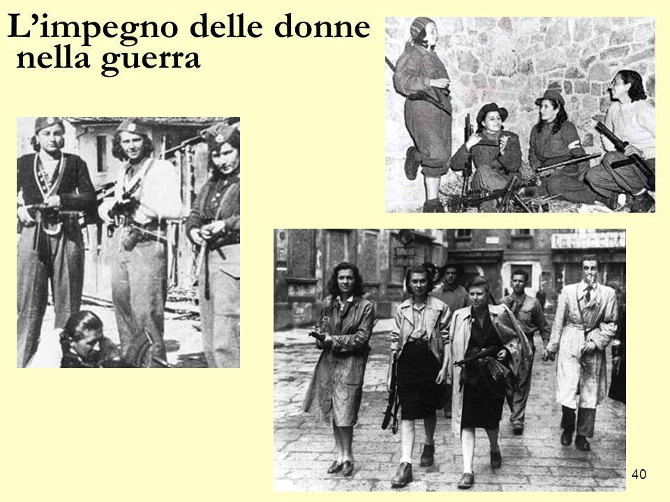 L'impegno delle donne nella guerra