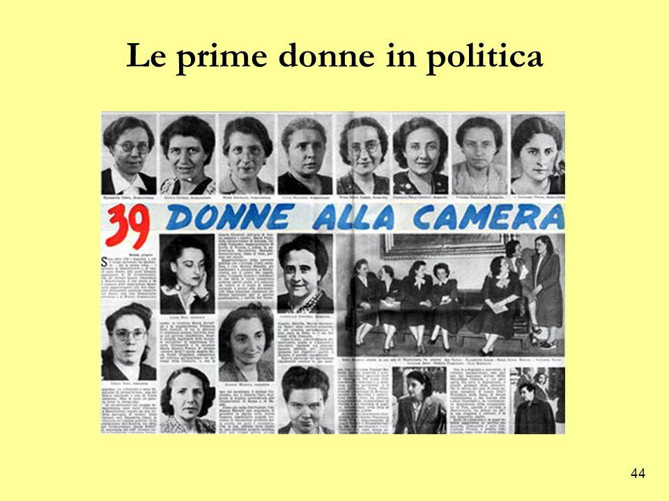 Le prime donne in politica