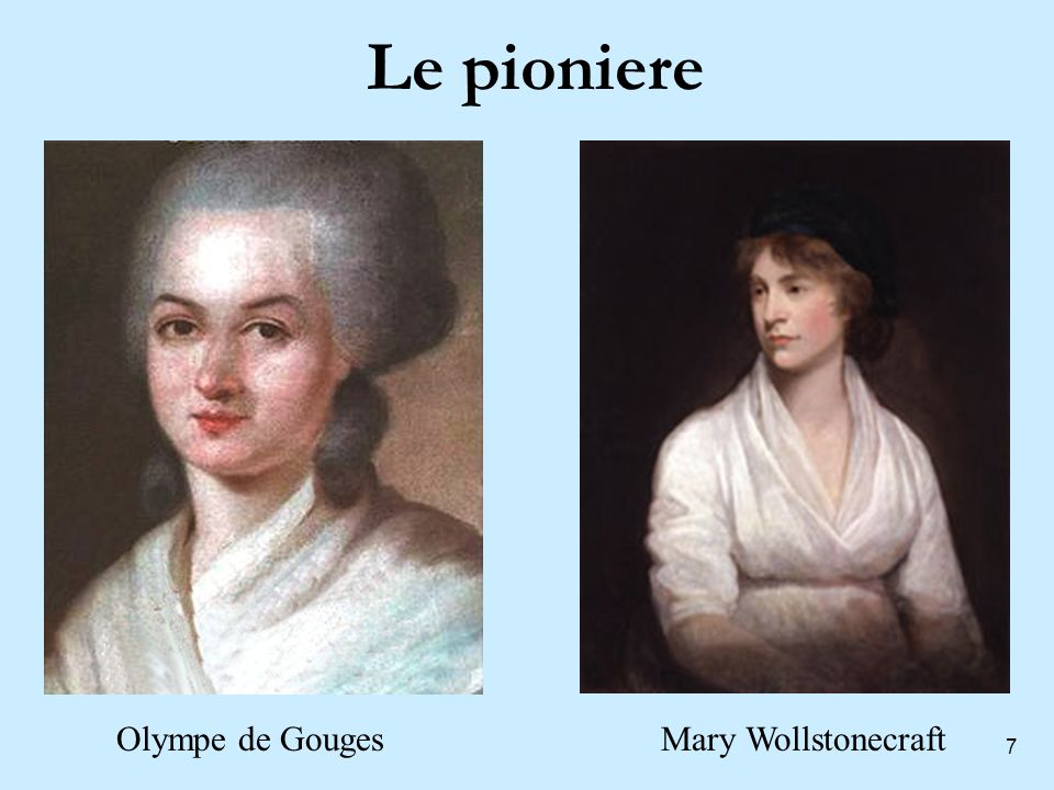 Le pioniere Olympe de Gouges Mary Wollstonecraft