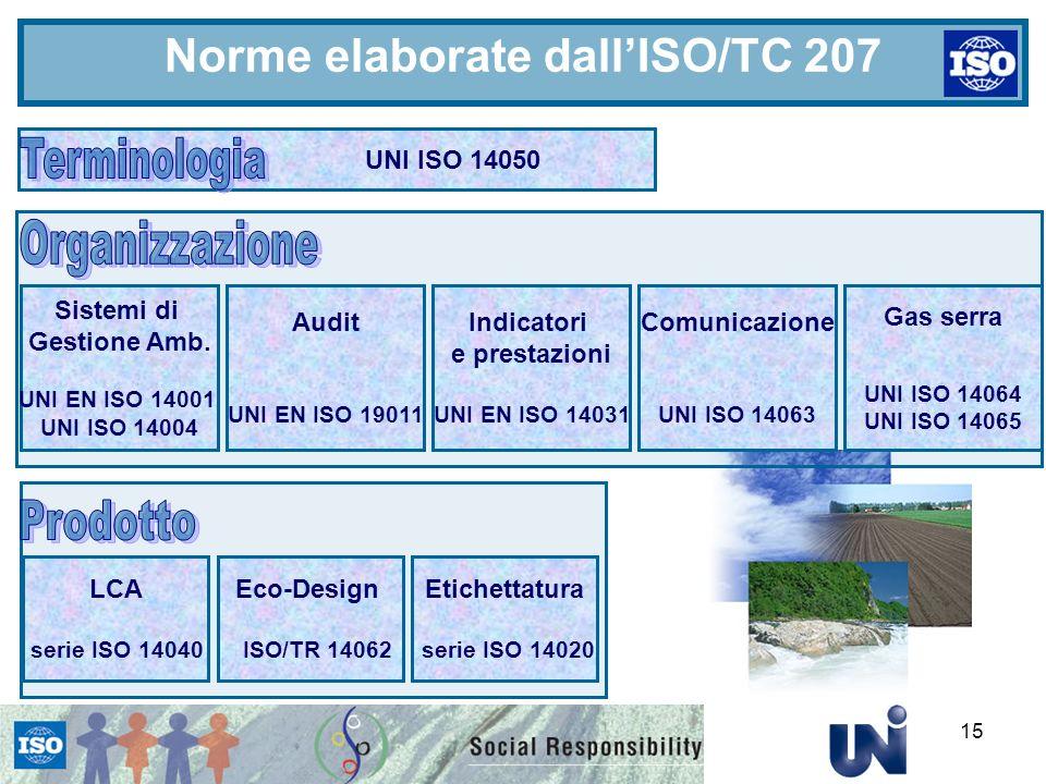 Norme elaborate dall'ISO/TC 207