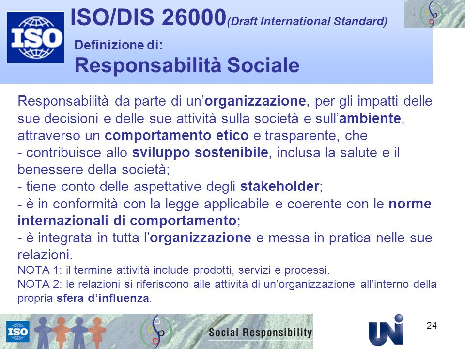 ISO/DIS 26000(Draft International Standard)