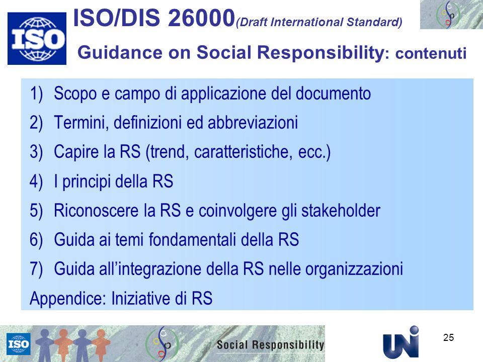 ISO/DIS 26000(Draft International Standard)