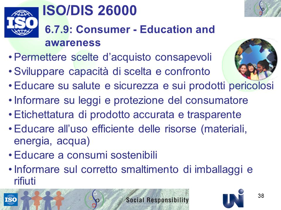 ISO/DIS 26000 6.7.9: Consumer - Education and awareness