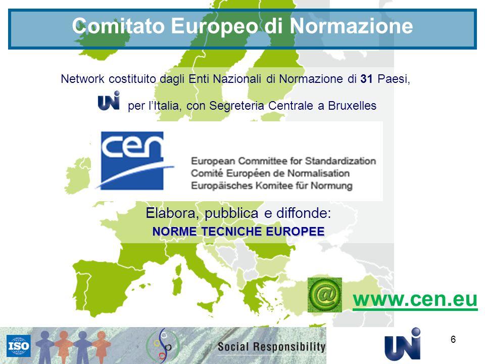 Comitato Europeo di Normazione NORME TECNICHE EUROPEE