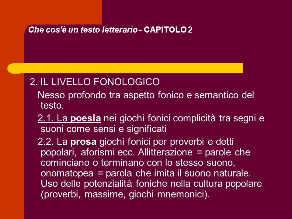 Che cos è un testo letterario - CAPITOLO 2